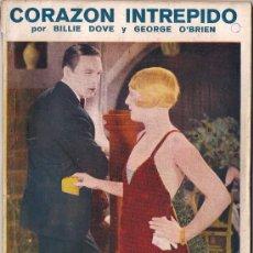 Cinema: OL18 CORAZON INTREPIDO GEORGE O'BRIEN BILLIE DOVE NOVELA CON FOTOS BIBLIOTECA PERLA Nº25. Lote 29048089