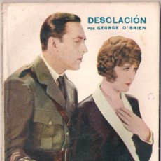 Cinema: OL20 DESOLACION GEORGE O'BRIEN MADGE BELLAMY NOVELA CON FOTOS BIBLIOTECA PERLA Nº11. Lote 29048436