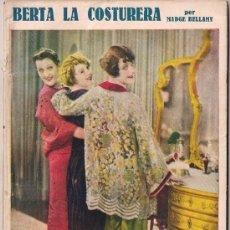 Cinema: OL22 BERTA LA COSTURERA MADGE BELLAMY NOVELA CON FOTOS BIBLIOTECA PERLA Nº 49. Lote 29048629