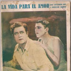 Cinema: OL34 LA VIDA PARA EL AMOR LEATRICE JOY EDMUND BURNS NOVELA CON FOTOS BIBLIOTECA PERLA Nº 26. Lote 29051594