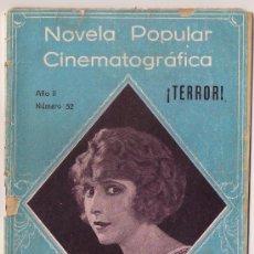 Cinema: OL81 TERROR PEARL WHITE NOVELA CON FOTOS NOVELA POPULAR CINEMATOGRAFICA Nº 52. Lote 29063548