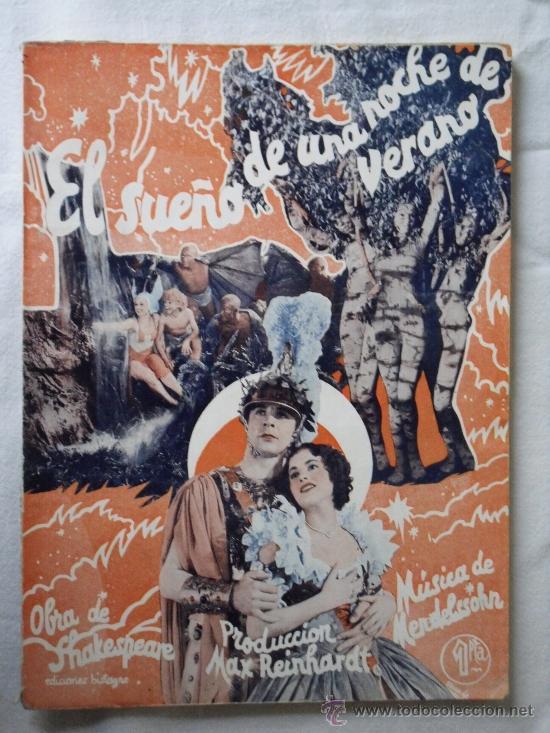 EL SUEÑO DE UNA NOCHE DE VERANO - EDICIONES BISTAGNE EDICIONES ESPECIALES - 72 PAG. (Cine - Foto-Films y Cine-Novelas)