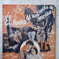Cine: EL SUEÑO DE UNA NOCHE DE VERANO - EDICIONES BISTAGNE EDICIONES ESPECIALES - 72 PAG.. Lote 29535552