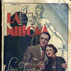Cine: LA MILLONA (EDITORIAL ALAS). Lote 30925180
