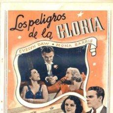Cine: LOS PELIGROS DE LA GLORIA - EVELYN DAWN Y MONA BARRIS (EDITORIAL ALAS). Lote 31185240