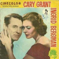 Cine: INGRID BERGMAN ARGUMENTO DEL FILM INDISCRETA.... Lote 31287584