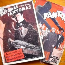 Cine: FANTOMAS Y FANTOMAS CONTRA FANTOMAS - BIBLIOTECA FILMS 1926. Lote 31576568