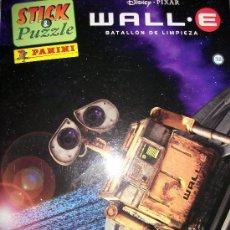Cine: WALL E - BATALLON DE LIMPIEZA - STICK & PUZZLE PANINI - DISNEY PIXAR - NUEVO - SIN USO - . Lote 32293780