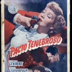 Cine: CLAUDETTE COLBERT / DON AMECHE : PACTO TENEBROSO. Lote 32557996