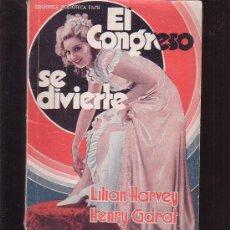 Cine: BIBLIOTECA FILMS , EL CONGRESO SE DIVIERTE, LILIAN HARVEY , HENRY GARAT -EDITA: EDITORIAL ALAS. Lote 32845878