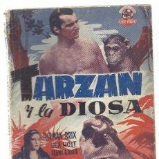 Cine: TARZAN Y LA DIOSA HERMAN BRIX ULA HOLT...EDICIONES BISTAGNE CON 16 FOTOGRAMAS DE LA PELICULA. Lote 33852763