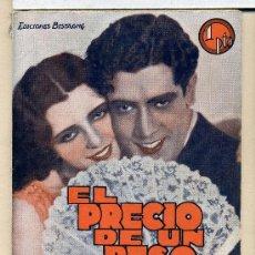 Cine: EL PRECIO DE UN BESO, CON JOSÉ MOJICA. NOVELILLA.. Lote 35571647