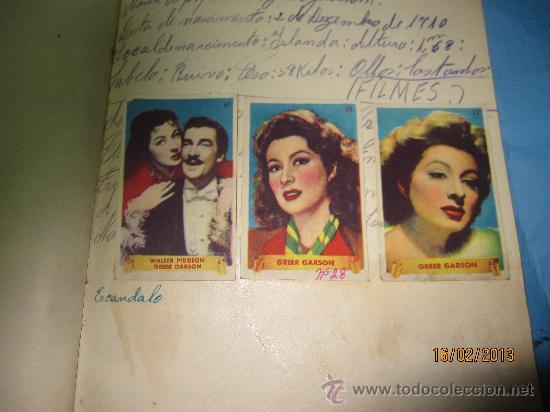 Cine: LIBRETAS ANTIGUAS ALBUM CON CROMOS O ESTAMPAS ANTIGUOS DE ACTORES FAMOSOS DE CINE GRANDES ESTRELLAS - Foto 9 - 35840107