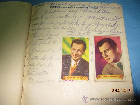 Cine: LIBRETAS ANTIGUAS ALBUM CON CROMOS O ESTAMPAS ANTIGUOS DE ACTORES FAMOSOS DE CINE GRANDES ESTRELLAS - Foto 8 - 35840107