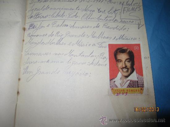 Cine: LIBRETAS ANTIGUAS ALBUM CON CROMOS O ESTAMPAS ANTIGUOS DE ACTORES FAMOSOS DE CINE GRANDES ESTRELLAS - Foto 13 - 35840107