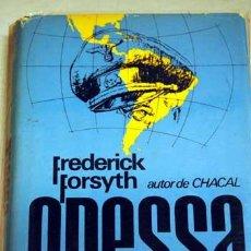 Cinema: ODESSA DE FREDERICK FORSYTH. 1ª ED. 1972. NOVELA DE LA PELÍCULA DE RONALD NEAME CON JON VOIGHT. Lote 36499743