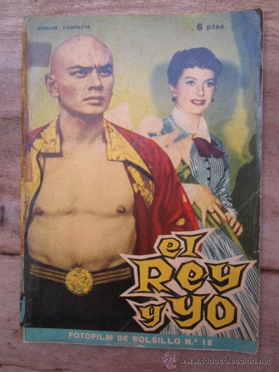 FOTOFILM DE BOLSILLO , NUMERO 12- EL REY Y YO , DEBORAH KERR - YUL BRYNNER 1959 (Cine - Foto-Films y Cine-Novelas)