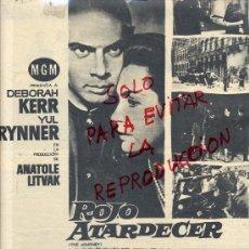 Cine: ROJO ATARDECER1960 YUL BRYNNER-DEBORAH KERR HOJA REVISTA. Lote 39282191