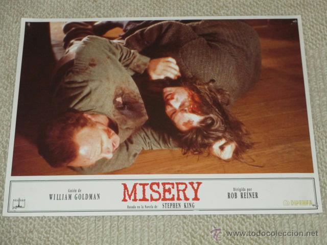 MISERY, STEPHEN KING, ROB REINER, WILLIAM GOLDMAN, 10 FOTOCROMOS, LOBBY CARDS, TERROR (Cine - Foto-Films y Cine-Novelas)