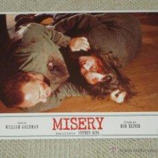Cine: MISERY, STEPHEN KING, ROB REINER, WILLIAM GOLDMAN, 10 FOTOCROMOS, LOBBY CARDS, TERROR. Lote 40072239