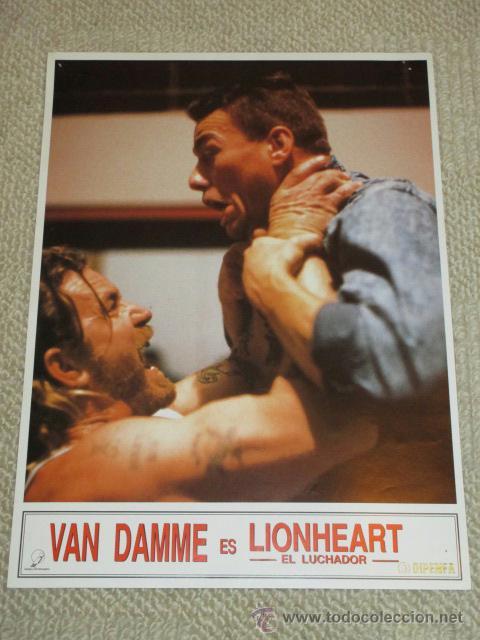LIONHEART, JEAN CLAUDE VAN DAMME, 10 FOTOCROMOS, LOBBY CARDS, LUCHA (Cine - Foto-Films y Cine-Novelas)