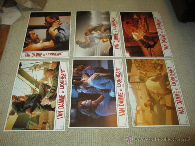Cine: Lionheart, Jean Claude Van Damme, 10 fotocromos, lobby cards, lucha - Foto 2 - 40084971