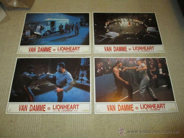 Cine: Lionheart, Jean Claude Van Damme, 10 fotocromos, lobby cards, lucha - Foto 3 - 40084971