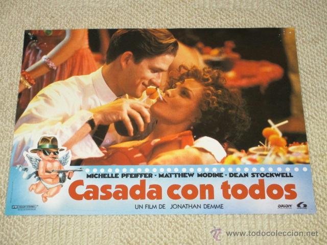 CASADA CON TODOS, MICHELLE PFEIFFER, MATTHEW MODINE, DEAN STOCKWELL, 12 FOTOCROMOS, LOBBY CARDS (Cine - Foto-Films y Cine-Novelas)