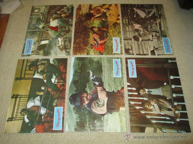 Cine: ¡ Caray que palizas !, Franco Ciferri, Salvatore Borghese, 12 fotocromos, lobby cards, western - Foto 3 - 40085205