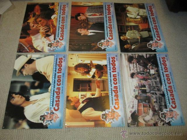 Cine: Casada con todos, Michelle Pfeiffer, Matthew Modine, Dean Stockwell, 12 fotocromos, lobby cards - Foto 2 - 40085307