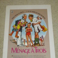 Cine: MÉNAGE À TROIS, BRYAN FORBES, DAVID NIVEN, ART CARNEY, CATHERINE HICKS, 12 FOTOCROMOS, LOBBY CARDS. Lote 40449394