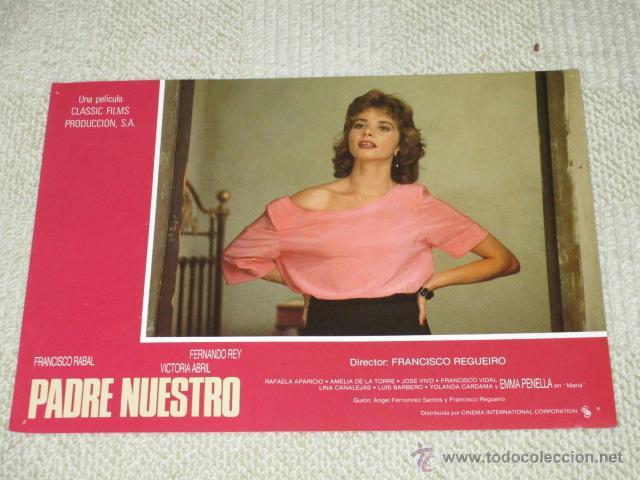 PADRE NUESTRO, FRANCISCO RABAL, VICTORIA ABRIL, FERNANDO REY, 12 FOTOCROMOS, LOBBY CARDS (Cine - Foto-Films y Cine-Novelas)