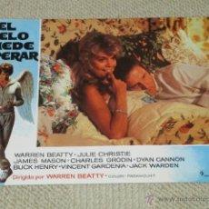 Cine: EL CIELO PUEDE ESPERAR, WARREN BEATTY, JULIE CHRISTIE, JAMES MASON, 8 FOTOCROMOS, LOBBY CARDS. Lote 40449580