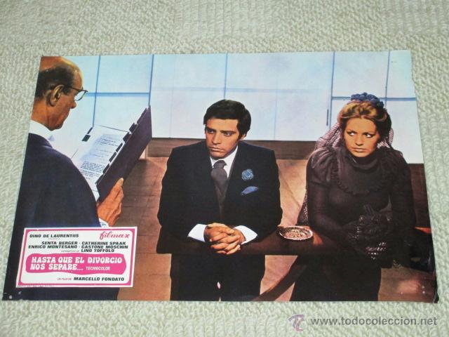 HASTA QUE EL DIVORCIO NOS SEPARE, MARCELLO FONDATO, SENTA BERGER, 12 FOTOCROMOS, LOBBY CARDS (Cine - Foto-Films y Cine-Novelas)