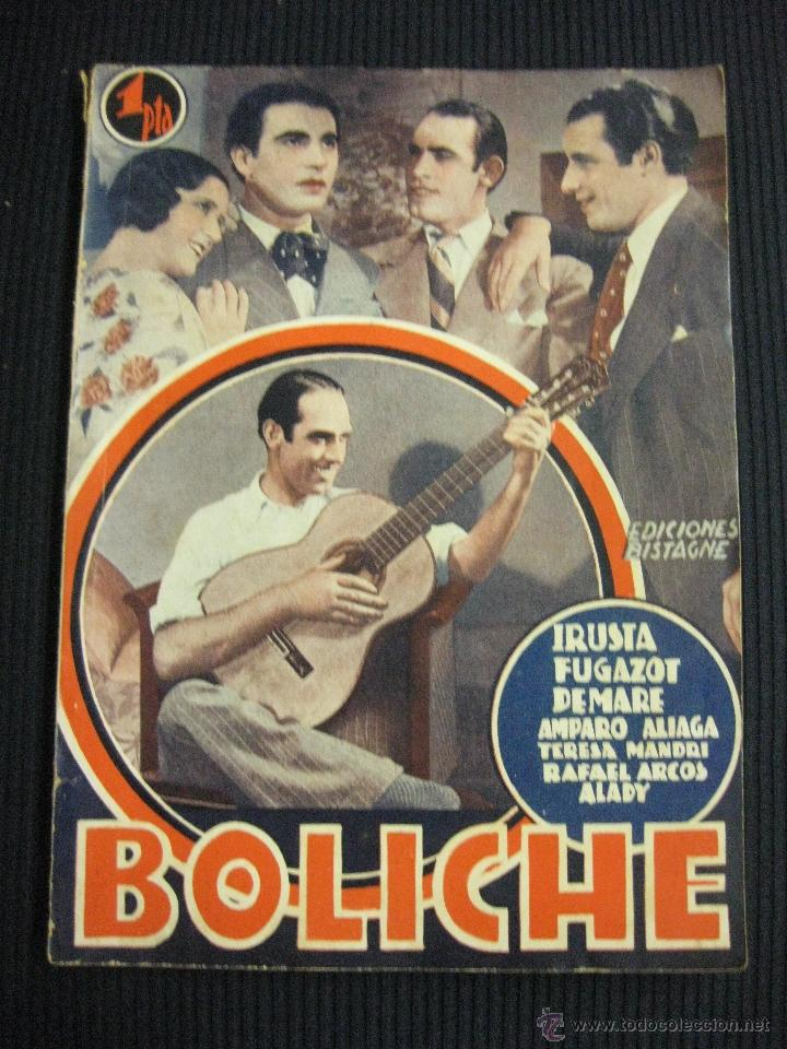 BOLICHE. ARGUMENTO NOVELADO CON FOTOS DEL FILM. EDICIONES BISTAGNE (Cine - Foto-Films y Cine-Novelas)
