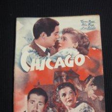 Cine: CHICAGO. ARGUMENTO NOVELADO CON FOTOS DEL FILM. EDICIONES BISTAGNE. SERIE TRIUNFO.. Lote 42302965