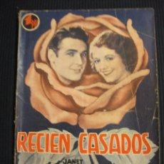 Cine: RECIEN CASADOS. ARGUMENTO NOVELADO CON FOTOS DEL FILM. EDICIONES BISTAGNE. . Lote 42303075