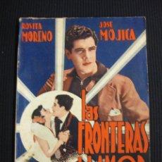 Cine: LAS FRONTERAS DEL AMOR. ARGUMENTO NOVELADO CON FOTOS DEL FILME. EDICIONES BISTAGNE.. Lote 42303284