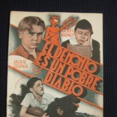 Cine: EL DEMONIO ES UN POBRE DIABLO. ARGUMENTO NOVELADO CON FOTOS DEL FILME. PUBL. CINEMA. SERIE ESPLENDOR. Lote 42303604