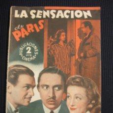 Cine: LA SENSACION DE PARIS. ARGUMENTO NOVELADO CON FOTOS DEL FILME. PUBLICACIONES CINEMA. SERIE ESPLENDOR. Lote 42303631