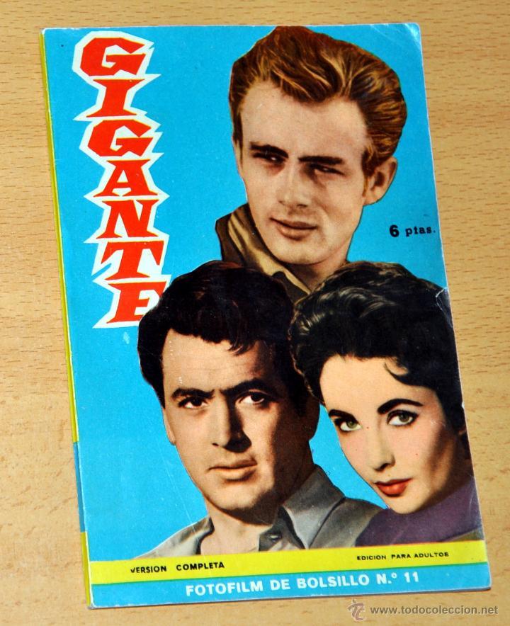 FOTOFILM DE BOLSILLO, Nº 11: GIGANTE - ELIZABETH TAYLOR, ROCK HUDSON, JAMES DEAN - MANDOLINA 1959 (Cine - Foto-Films y Cine-Novelas)
