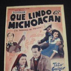 Cine: QUE LINDO ES MICHOACAN ARGUMENTO NOVELADO.FOTOS DEL FILM. EDICIONES BIBLIOTECA FILMS SERIE ESPECIAL. Lote 42421526