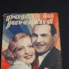 Cine: PASO A LA JUVENTUD. ARGUMENTO NOVELADO CON FOTOS DEL FILM. EDICIONES BIBLIOTECA FILMS . Lote 42421620