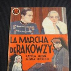 Cine: LA MARCHA DE RAKOWZY. ARGUMENTO NOVELADO CON FOTOS DEL FILM. EDICIONES IDEALES. EDICIONES BISTAGNE.. Lote 42421662