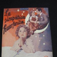 Cine: LA SIMPATICA HUERFANITA. ARGUMENTO NOVELADO CON FOTOS DEL FILM. EDICIONES BISTAGNE. SERIE FAMILIAR. Lote 42421944