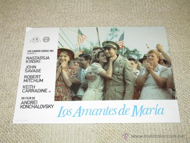 LOS AMANTES DE MARÍA, NATASSJA KINSKI, ROBERT MITCHUM,JOHN SAVAGE 10 FOTOCROMOS, LOBBY CARDS (Cine - Foto-Films y Cine-Novelas)