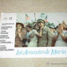 Cine: LOS AMANTES DE MARÍA, NATASSJA KINSKI, ROBERT MITCHUM,JOHN SAVAGE 10 FOTOCROMOS, LOBBY CARDS. Lote 42479020