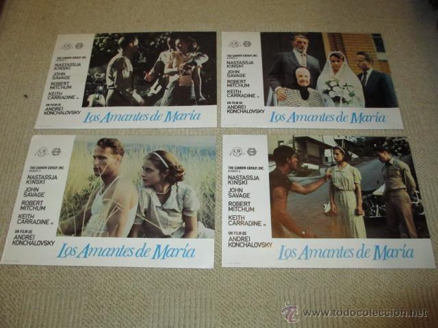Cine: Los amantes de María, Natassja Kinski, Robert Mitchum,John Savage 10 fotocromos, lobby cards - Foto 2 - 42479020
