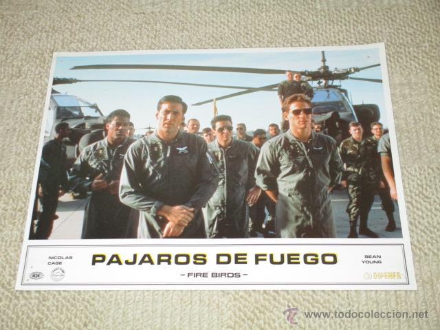 PÁJAROS DE FUEGO, FIRE BIRDS NICOLAS CAGE, SEAN YOUNG 11 FOTOCROMOS, LOBBY CARDS (Cine - Foto-Films y Cine-Novelas)