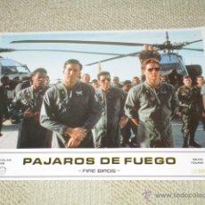 Cine: PÁJAROS DE FUEGO, FIRE BIRDS NICOLAS CAGE, SEAN YOUNG 11 FOTOCROMOS, LOBBY CARDS. Lote 42479086